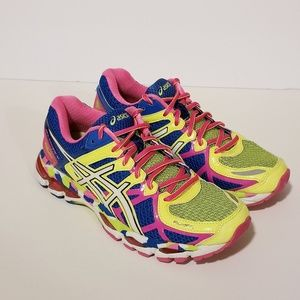Asics Size 7 Gel Kayano 21 Bright Rainbow Sneakers